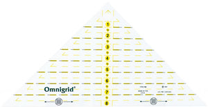 "Omnigrid 8"" Quarter Square Triangle Ruler"
