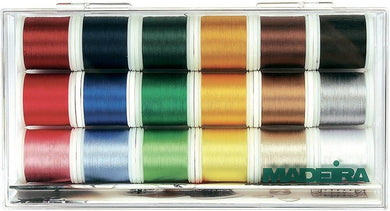 Madeira Rayon Thread Gift Box, 18 Spools