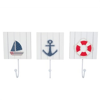 Hooks (3) with Assorted Figures - Chesapeake Bay Goods