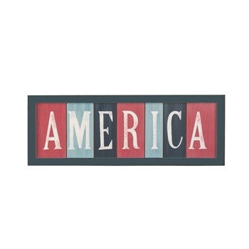 America Patriotic Decorative Wall Sign