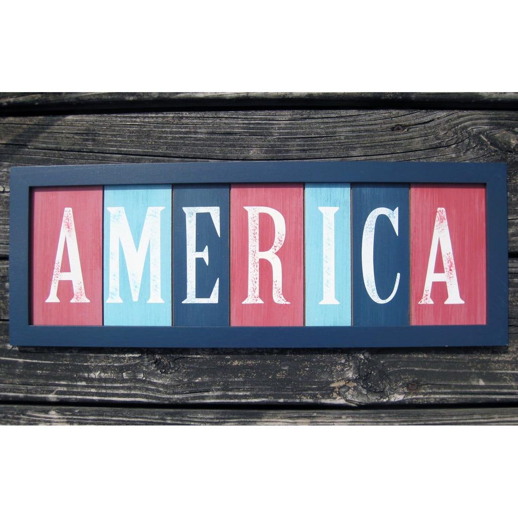 America Patriotic Decorative Wall Sign - Chesapeake Bay Goods