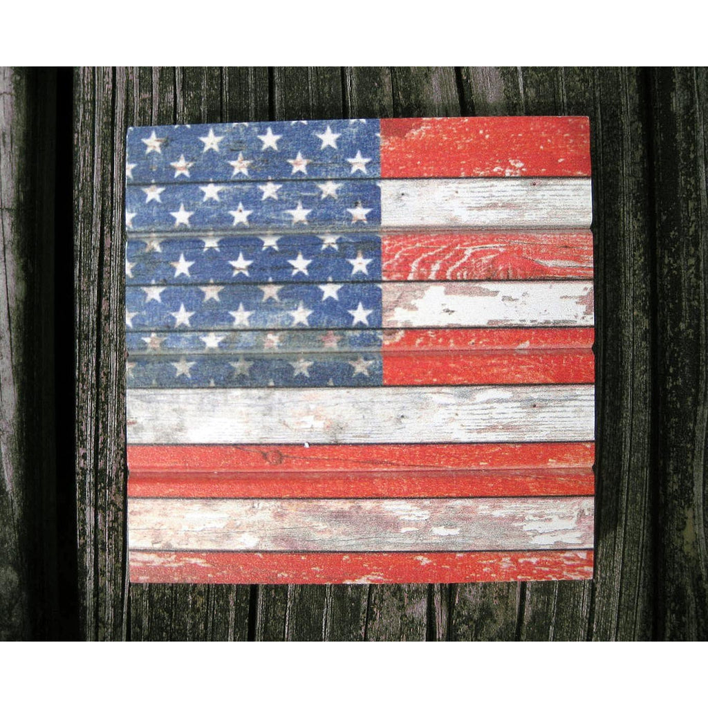 American Flag Pallet Coaster Singles - Chesapeake Bay Goods