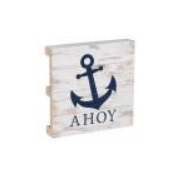 Nautical Anchor Wood Pallet Coaster Singles - Chesapeake Bay Goods