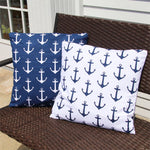 Anchor Print Pillow Set