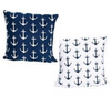 Anchor Print Pillow Set Blue White Chesapeake Bay Goods