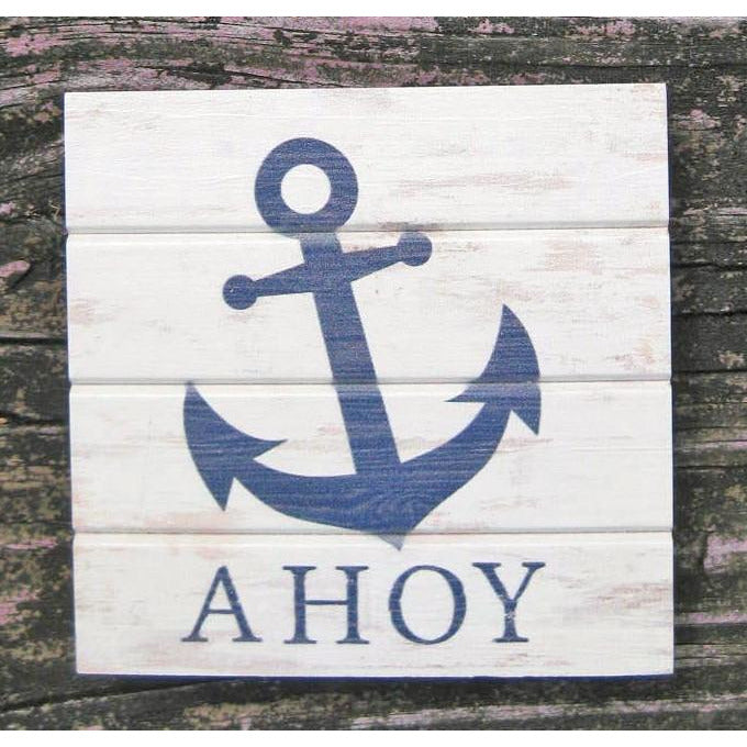 Anchor Wood Pallet Coaster Singles - Chesapeake Bay Goods