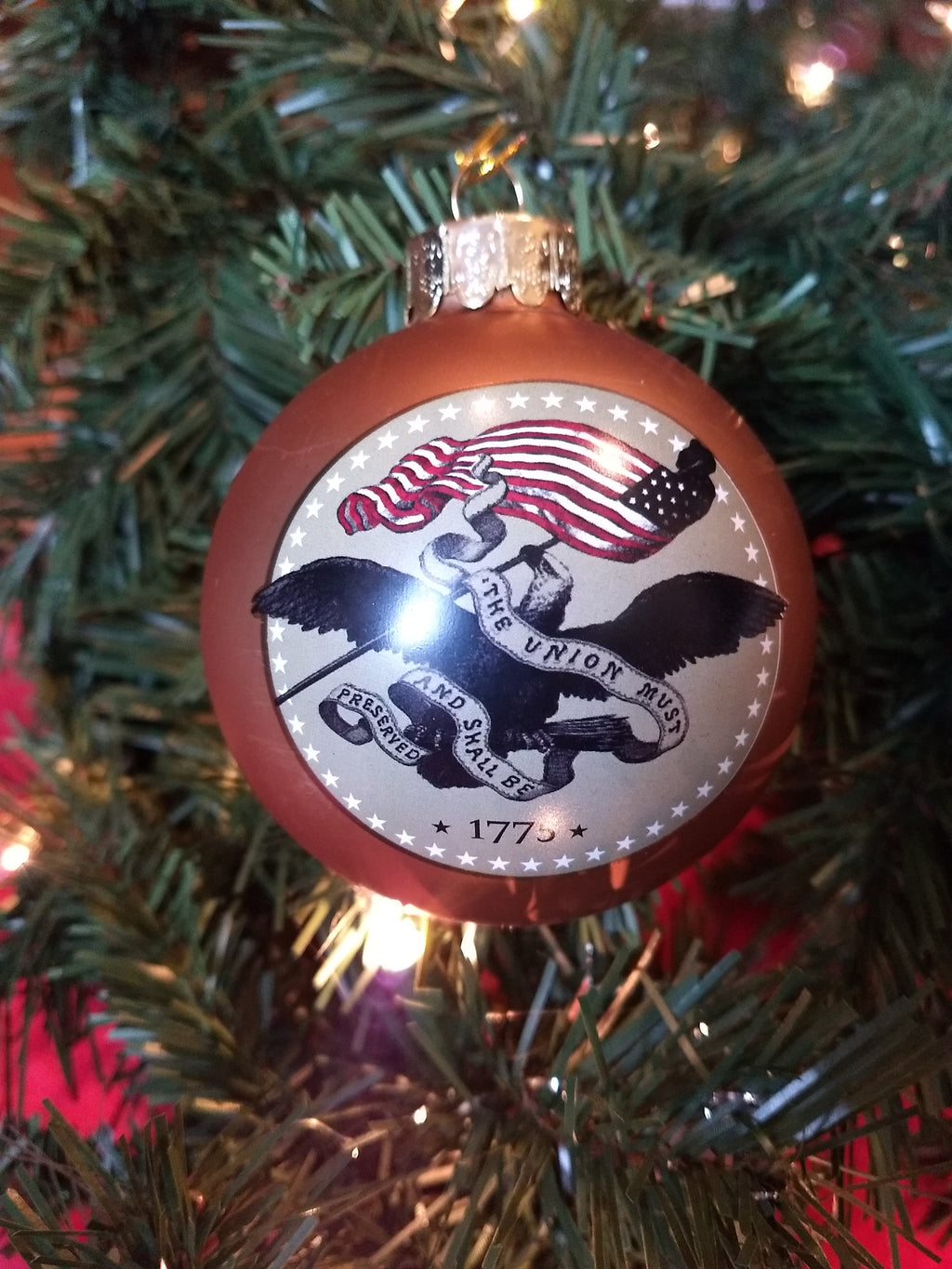 "U.S. Army™ ""Army Strong"" Gold Glass Ball Ornament"