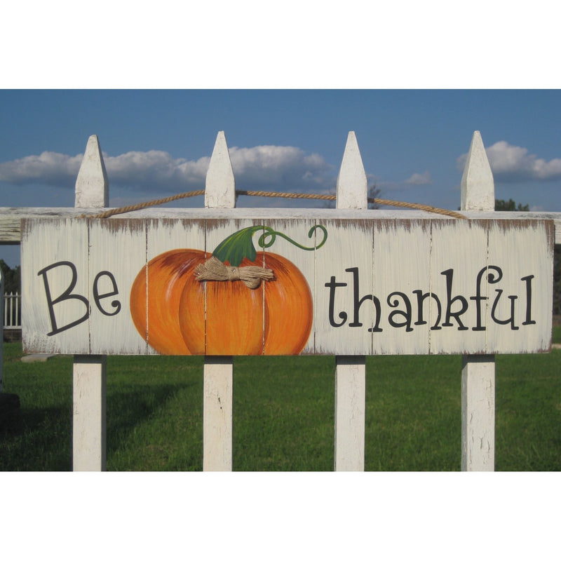 Be Thankful Wood Hanging Sign - Chesapeake Bay Goods