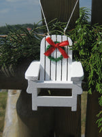 Beach Chair Christmas Ornament with Wreath