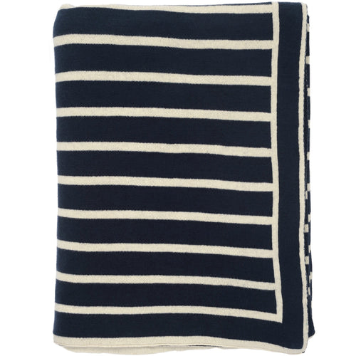Navy Beach Stripes Throw - Chesapeake Bay Goods