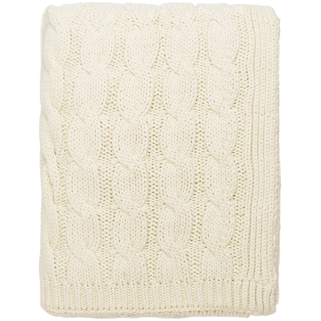 Cable Knit Throw - Chesapeake Bay Goods