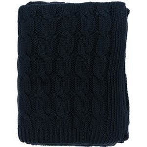 Navy Cable Knit Throw - Chesapeake Bay Goods