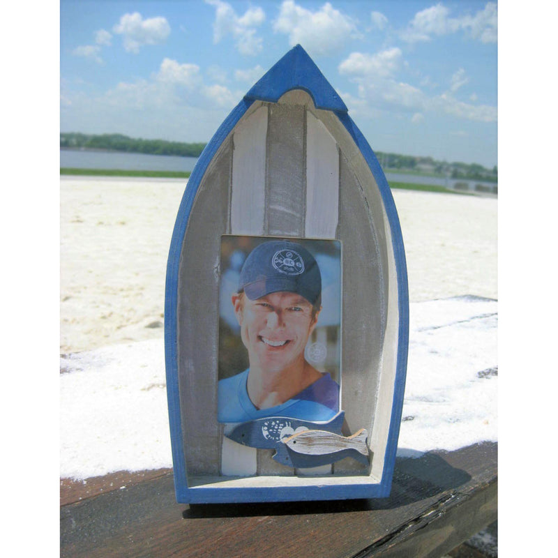 Photo Frame 4x6 - Navy & White Boat - Chesapeake Bay Goods