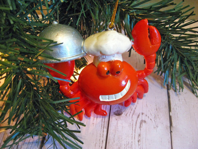 Chef Crab Ornament