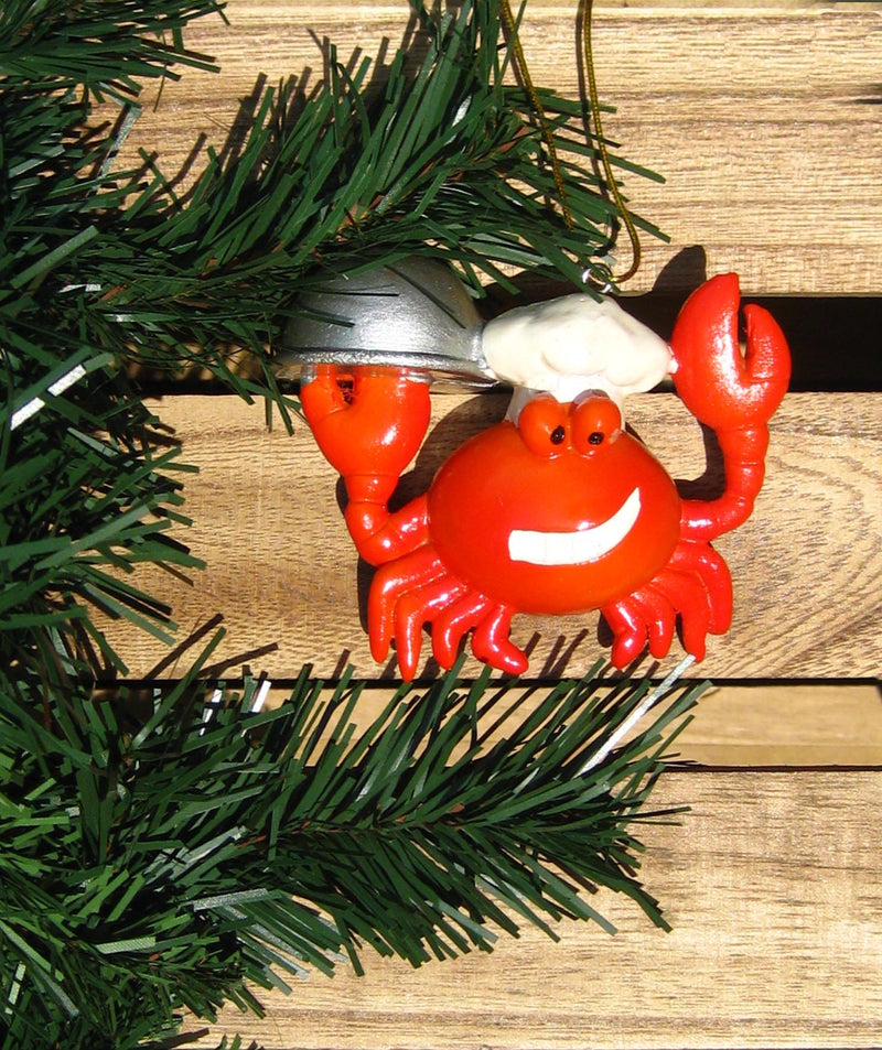 Chef Crab Nautical Christmas Ornament