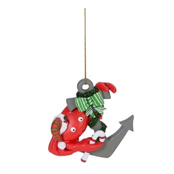 Crab on Anchor Ornament