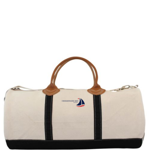 Navy Bay Travel Canvas Duffel - Chesapeake Bay Goods