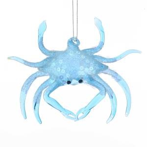 Blue Crab Glass Christmas Ornament - Chesapeake Bay Goods