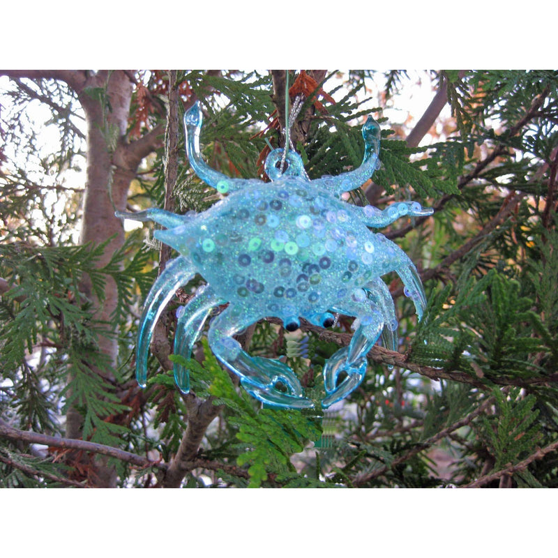 Blue Crab Glass Ornament - Chesapeake Bay Goods