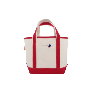 Small Canvas Red Boat Tote