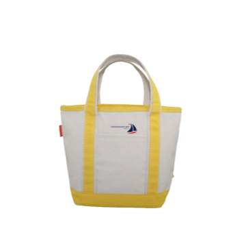 Small Yellow Canvas Boat Tote Chesapeake Bay Goods