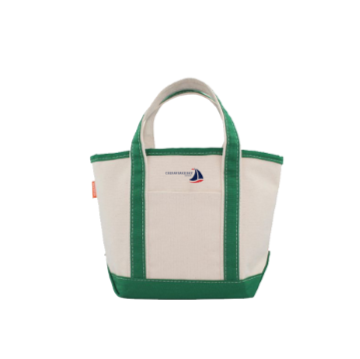 Small Canvas Green Boat Tote Chesapeake Bay Goods