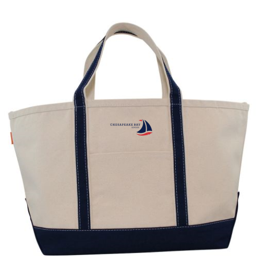 Large Navy Boat Tote - Chesapeake Bay Goods