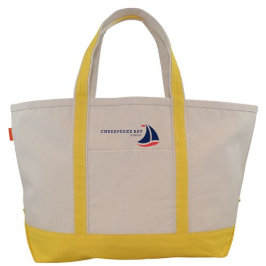 Large Yellow Canvas Boat Tote - Chesapeake Bay Goods