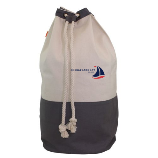 Gray Canvas Laundry Duffel - Chesapeake Bay Goods