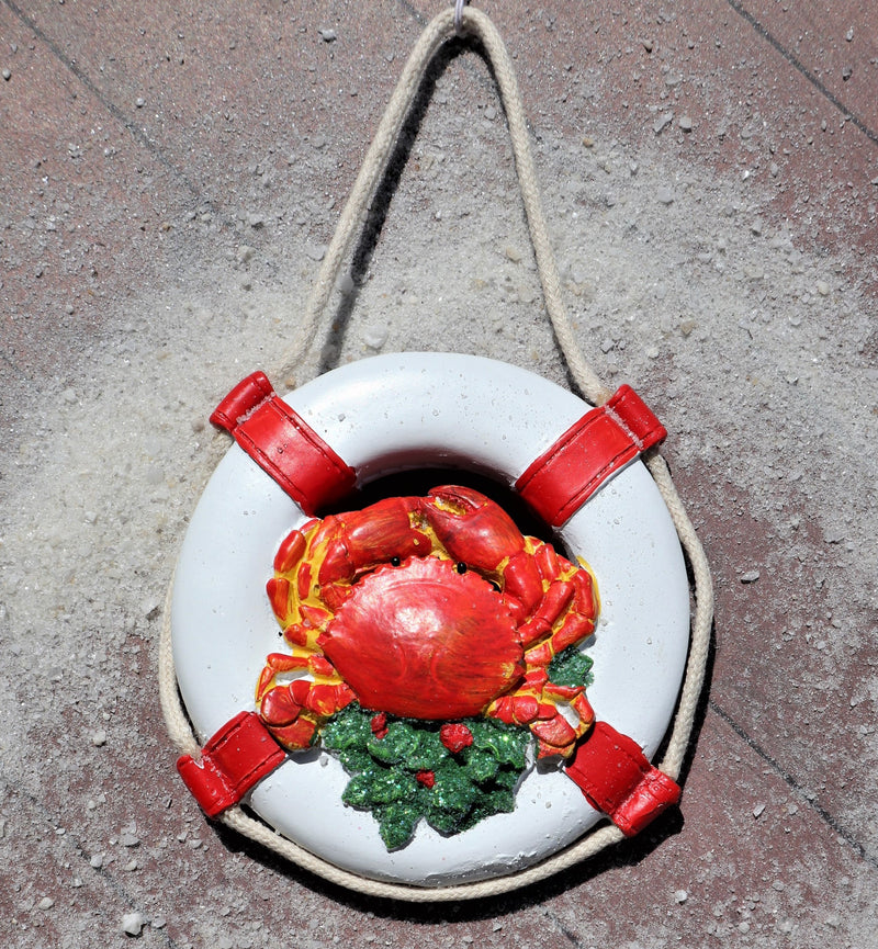 Life Preserver with Crab Nautical Christmas Ornament Chesapeake Bay Goods