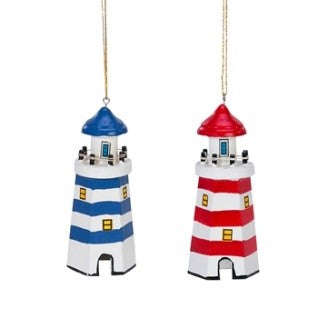 Lighthouse Christmas Ornament Set of 2