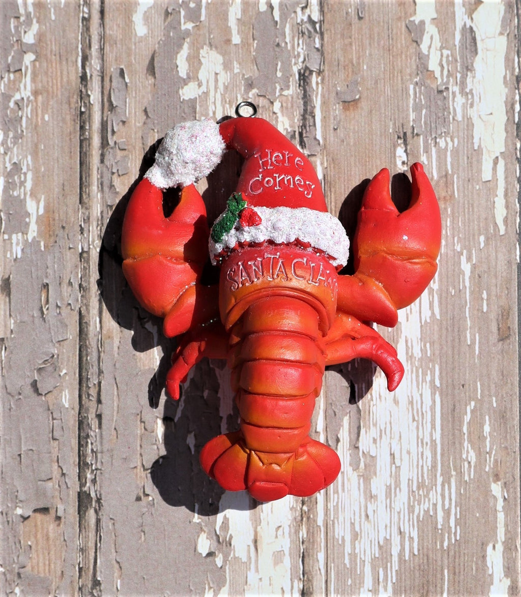 Santa Claws Lobster Nautical Christmas Ornament Chesapeake Bay Goods