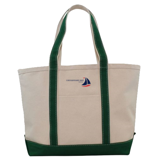 Medium Green Canvas Boat Tote Chesapeake Bay Goods