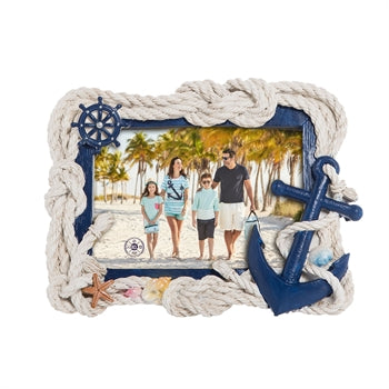 Nautical Rope and Anchor Photo Frame - Chesapeake Bay Goods