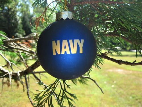 U.S. Navy™ Glass Ball Christmas Ornament
