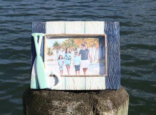 Nautical Picture Frame with Oars Chesapeake Bay Goods