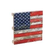 American Flag Patriotic Pallet Coaster 4-Pack Chesapeake Bay Goods