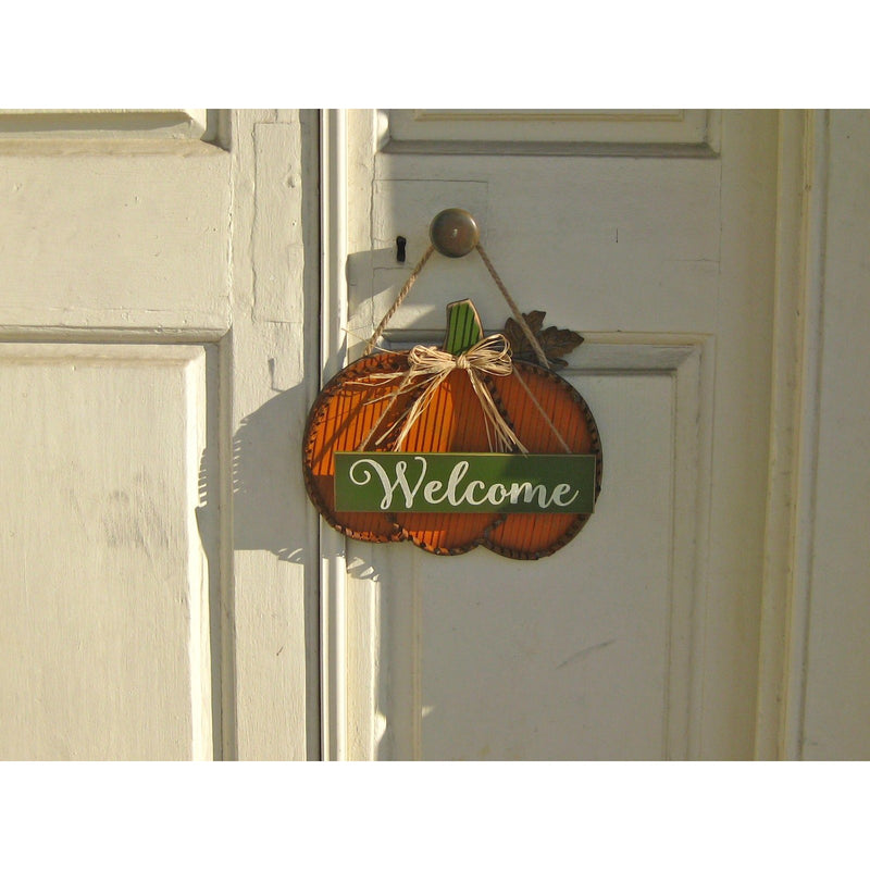 Pumpkin Hanging Wall Art - Welcome and Harvest - Chesapeake Bay Goods