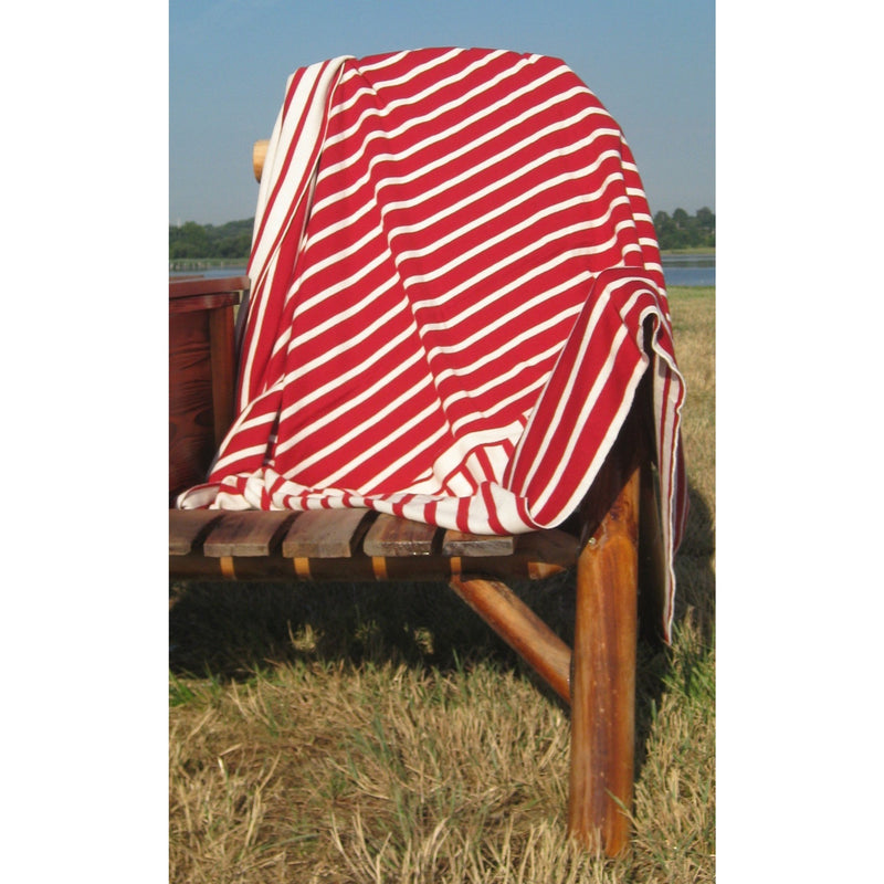 Red Beach Stripes Throw - Chesapeake Bay Goods