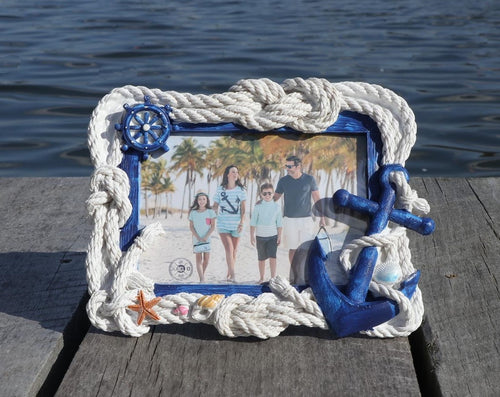 Rope and Anchor Nautical Picture Frame Chesapeake Bay Goods