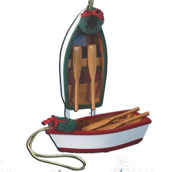Nautical Row Boat Christmas Ornament