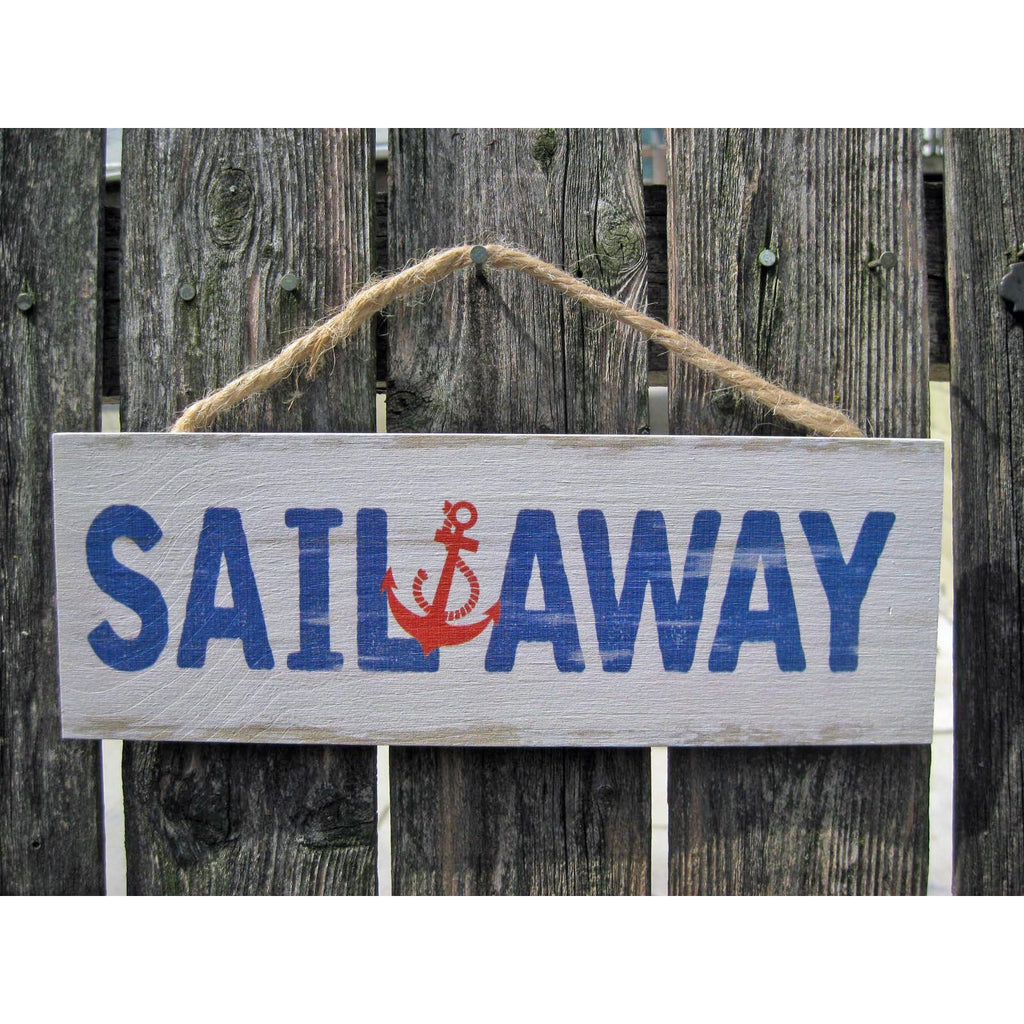 Hanging Nautical Sail Away Sign - Chesapeake Bay Goods