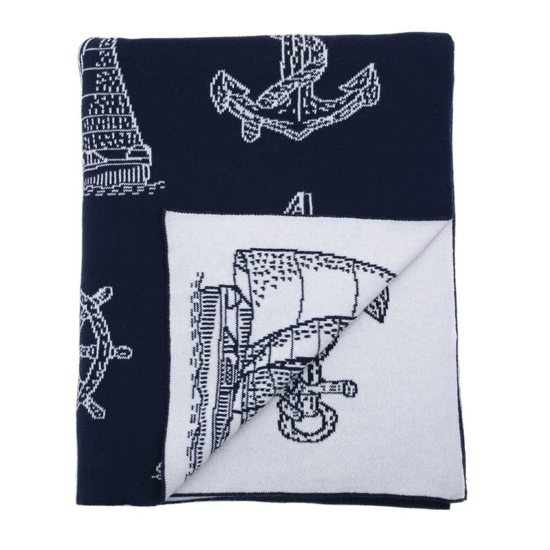 Sailboats Knit Throw - Chesapeake Bay Goods