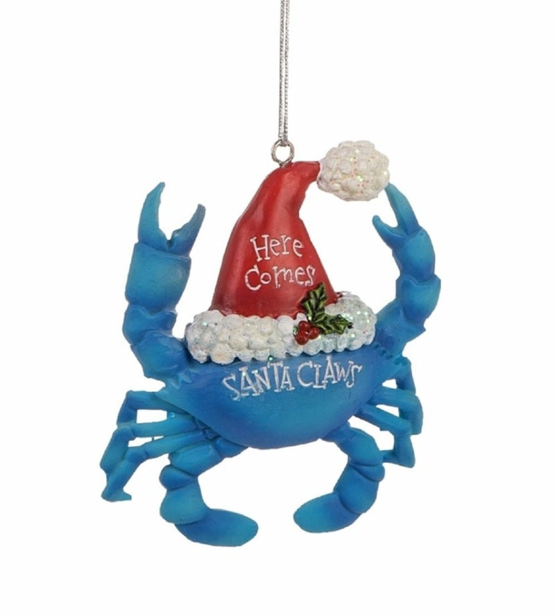 Wire Cage with Crab Christmas Ornament