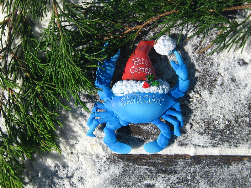 Santa Claws Blue Crab Ornament