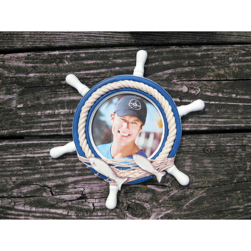 Nautical Ship Wheel Picture Frame - Chesapeake Bay Goods