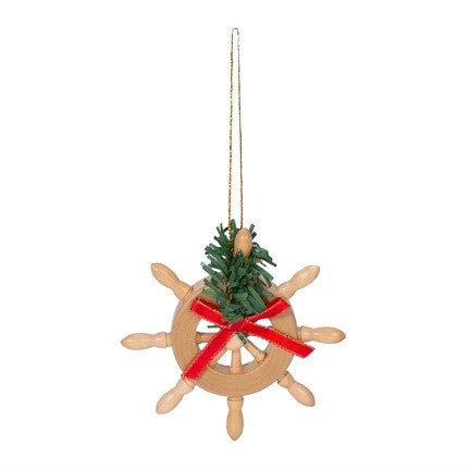 Nautical Ships Wheel Christmas Ornament