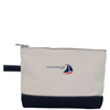 Small Navy Canvas Zipper Pouch - Chesapeake Bay Goods