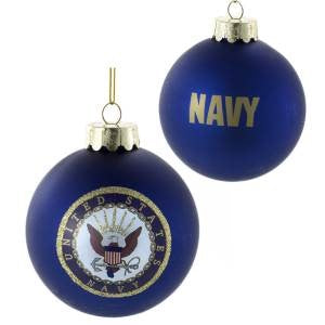 US Navy™ Glass Ball Christmas Ornament - Chesapeake Bay Goods