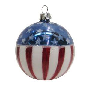 American Flag Ball Christmas Ornament - Chesapeake Bay Goods